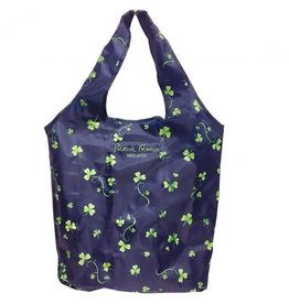 ACCESSORIES PATRICK FRANCIS REUSABLE SHOPPING TOTE w/ SHAMROCKS