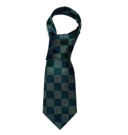 ACCESSORIES BOOK of KELLS SILK TIE - Bottle Grn/Navy