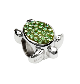 BEADS OCEAN GRN TURTLE BEAD with SWAROVSKI CRYSTALS