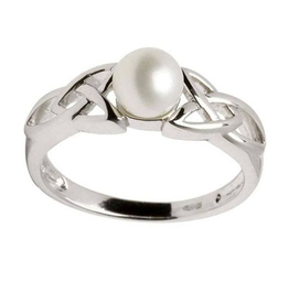 RINGS SHANORE STERLING TRINITY PEARL RING