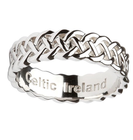 RINGS SHANORE STERLING SILVER GENTS CELTIC KNOT RING