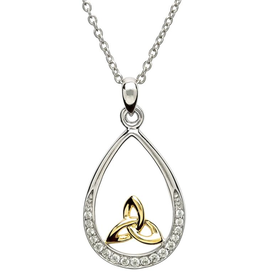 PENDANTS & NECKLACES SHANORE STERLING PAVE SET PENDANT with GP TRINITY