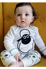 BABY CLOTHES SHEEP & SHAMROCK PRINT BABY PAJAMA SET