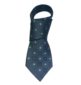 ACCESSORIES PATRICK FRANCIS SHAMROCK SILK TIE - Navy