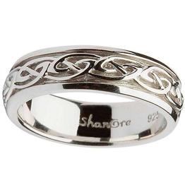 RINGS SHANORE LADIES STERLING CELTIC KNOT WEDDING RING
