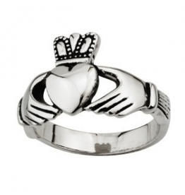 RINGS SOLVAR GENTS STAINLESS CLADDAGH
