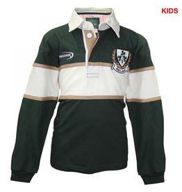 KIDS CLOTHES LANSDOWNE KIDS LONG SLEEVE RUGBY - Bottle Grn/Natural