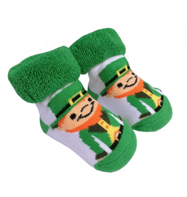 BABY ACCESSORIES NEWBORN BOOTIES with LEPRECHAUNS