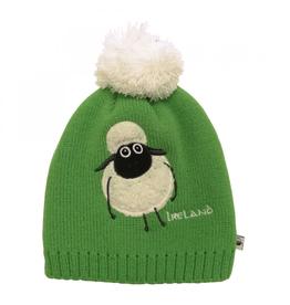 BABY ACCESSORIES KIDS GREEN SHEEP HAT with POM-POM