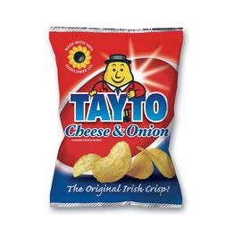 CRISPS / CHIPS TAYTOS - SMALL BAG - CHEESE & ONION (45g)