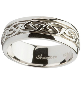 RINGS SHANORE GENTS STERLING CELTIC KNOT WEDDING RING