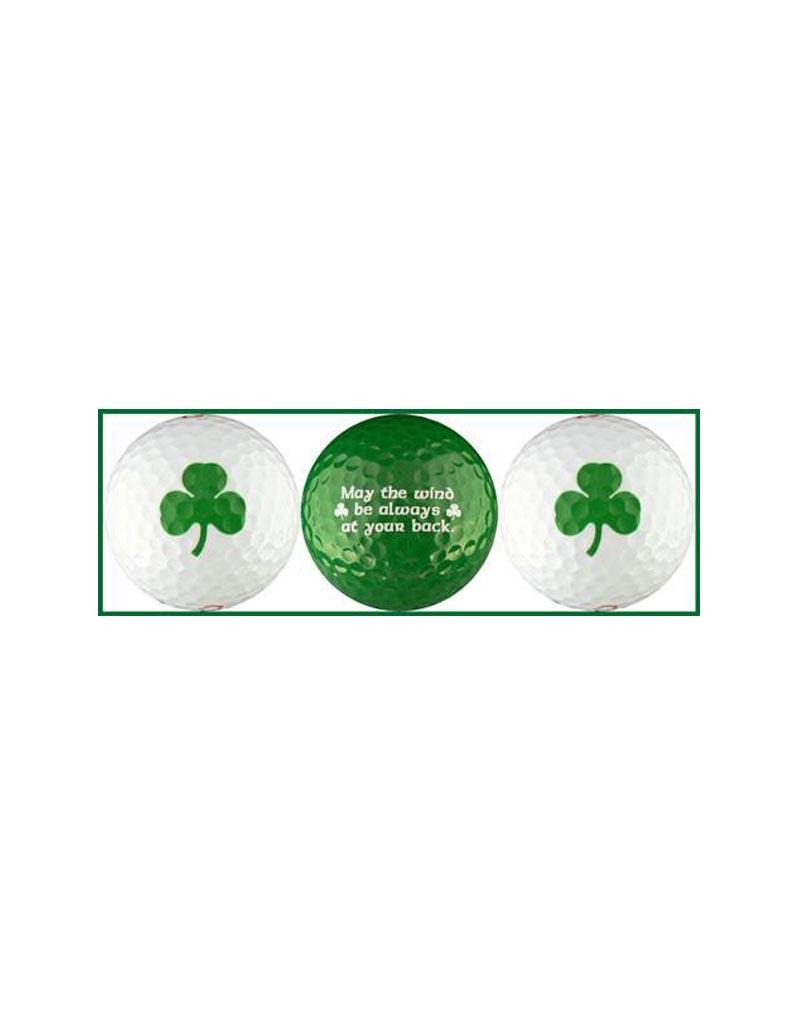 NOVELTY IRISH BLESSING GOLF BALLS - 3 PACK