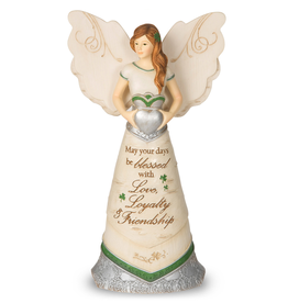 ANGELS IRISH BLESSING ANGEL with CLADDAGH