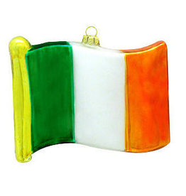 ORNAMENTS IRELAND FLAG GLASS ORNAMENT