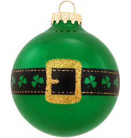 ORNAMENTS IRISH BELT GLASS ORNAMENT