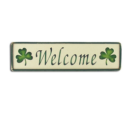 "PLAQUES, SIGNS & POSTERS ""WELCOME"" WOODEN SIGN"