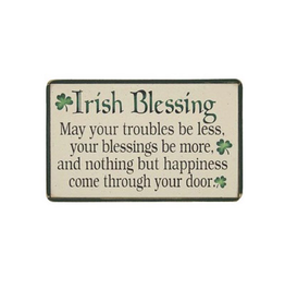 """PLAQUES, SIGNS & POSTERS """"AN IRISH BLESSING"""" WOODEN PLAQUE"""