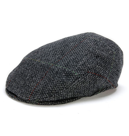 CAPS & HATS TAILORED GREY CHECK HANNA HAT