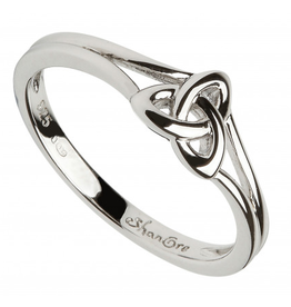RINGS SHANORE STERLING TRINITY KNOT RING