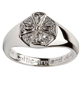 MISC NOVELTY CLEARANCE - SHANORE STERLING LADIES CELTIC CROSS RING - FINAL SALE