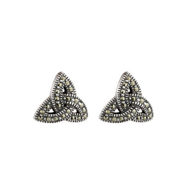 EARRINGS SOLVAR STERLING & MARCASITE TRINITY EARRINGS