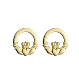 EARRINGS SOLVAR 14K SML CLADDAGH EARRINGS