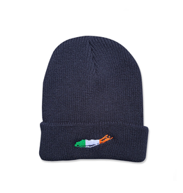 CAPS & HATS CARLETON LI IRISH BEANIE - NAVY
