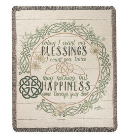 "TAPESTRIES, THROWS, ETC. ""WHEN I COUNT MY BLESSINGS"" THROW"