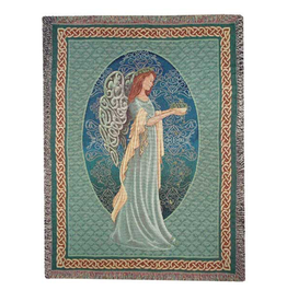 TAPESTRIES, THROWS, ETC. IRISH ANGEL CELTIC THROW