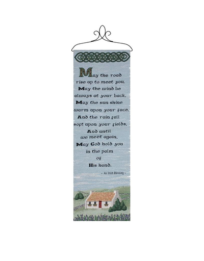"""TAPESTRIES, THROWS, ETC. """"MAY THE ROAD RISE …"""" WALLHANGING"""