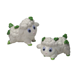 KITCHEN & ACCESSORIES GOOGLEY-EYED SHAMROCK SHEEP SALT & PEPPER SET