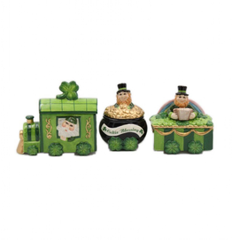 DECOR LEPRECHAUN TRINKET BOX TRAIN - SET of 3