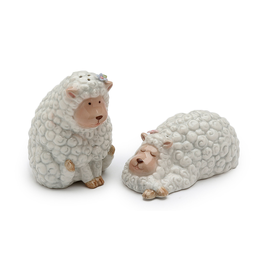 KITCHEN & ACCESSORIES CURLY SHEEP SALT & PEPPER SET