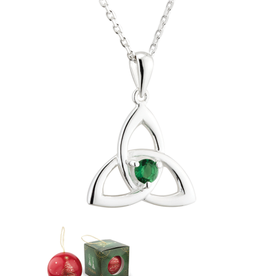 PENDANTS & NECKLACES SOLVAR CHRISTMAS BAUBLE & PLATED TRINITY PENDANT with STONE