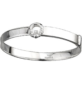 BRACELETS & BANGLES CLEARANCE - LITTLE FAILTE STERLING CHILD'S BANGLE - FINAL SALE