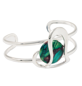 HEATHERGEMS HEATHERGEM OFFSET HEART BANGLE