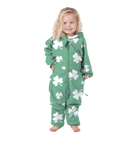 KIDS CLOTHES KIDS SHAMROCK ONESIE FLEECE PAJAMAS
