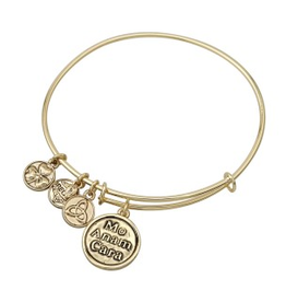 BRACELETS & BANGLES CLEARANCE - SOLVAR GOLD TONE 'MO ANAM' CHARM BANGLE - FINAL SALE
