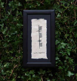 PLAQUES & GIFTS OGHAM WISHES FRAMED ART - Happiness