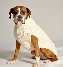 MISC NOVELTY DOG SWEATER: ARAN CABLE KNIT