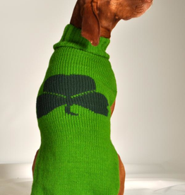 MISC NOVELTY CLEARANCE - DOG SWEATER: GREEN SHAMROCK - FINAL SALE