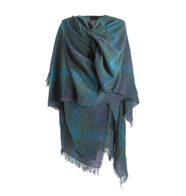CAPES & RUANAS CELTIC RUANA - Teal Check