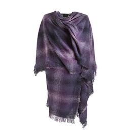 CAPES & RUANAS CELTIC RUANA - Plum Check