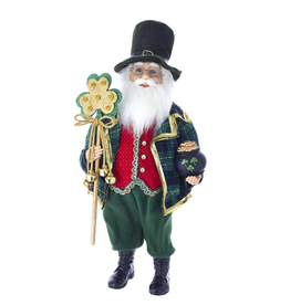 SANTAS IRISH KRIS KRINGLE with SHAMROCK STAFF SANTA