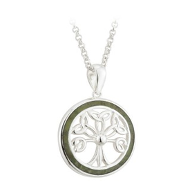 PENDANTS & NECKLACES SOLVAR STERLING & CONNEMARA TREE OF LIFE PENDANT