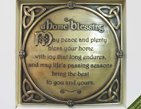 PLAQUES & GIFTS CELTIC BRONZE GALLERY WALL PLAQUE - HOME BLESSING