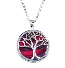 PENDANTS & NECKLACES HEATHERGEM TREE OF LIFE PENDANT SILVER PLATE
