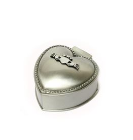 DECOR MULLINGAR PEWTER SMALL HEART SHAPED BOX