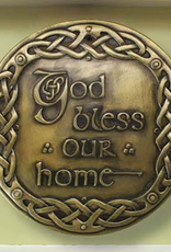 PLAQUES & GIFTS CELTIC BRONZE GALLERY WALL PLAQUE - GOD BLESS OUR HOME
