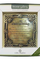 PLAQUES & GIFTS CELTIC BRONZE GALLERY WALL PLAQUE - OLD IRISH BLESSING